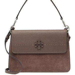 Tory Burch Mcgraw Suede Leather Shoulder/Crossbody